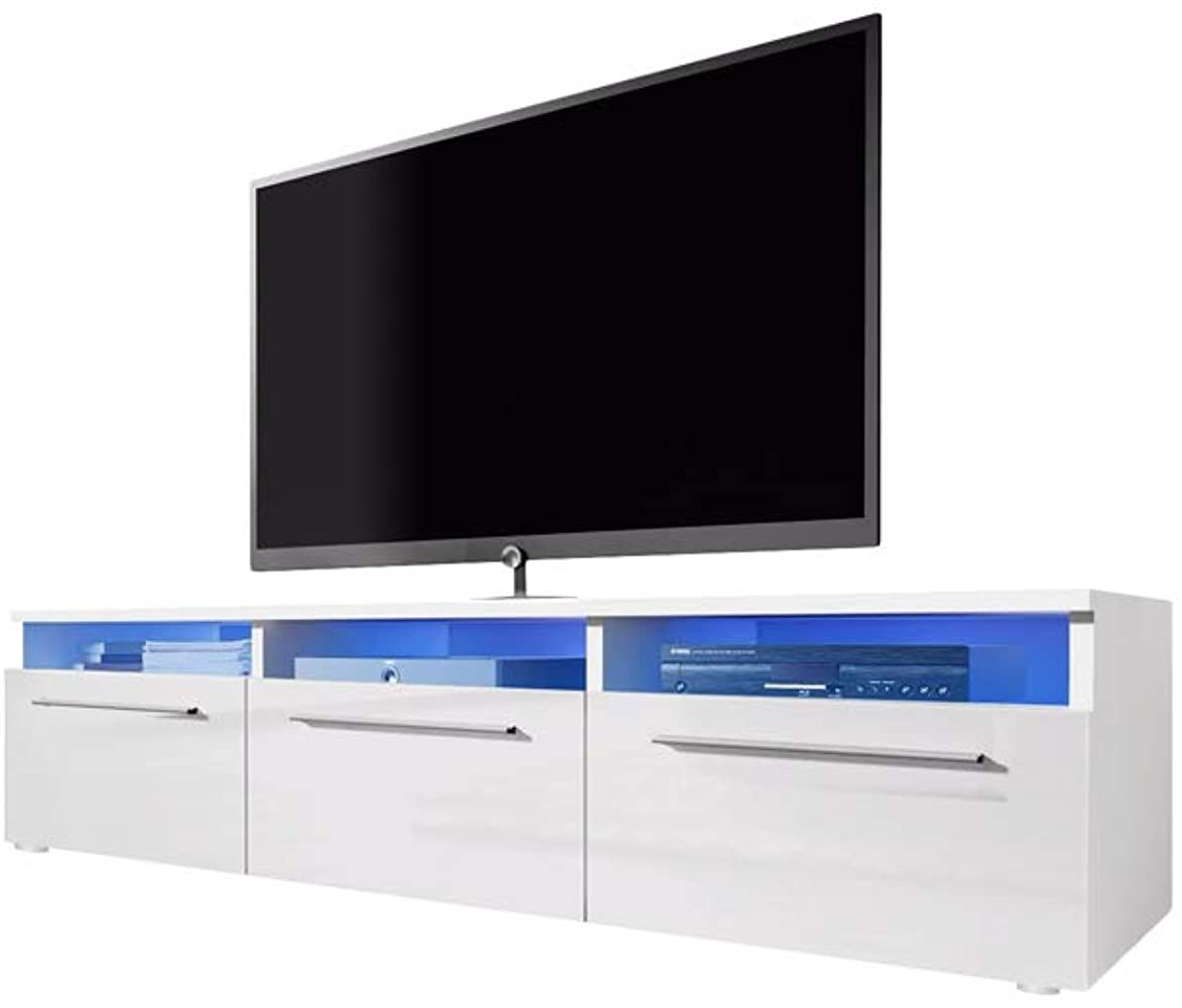Selsey Lavello Tv Lowboard Tv Schrank Mit Hochglanzfronten Und Led Beleuchtung 140cm Breit Geschenksachen Geschenkideen Mobel