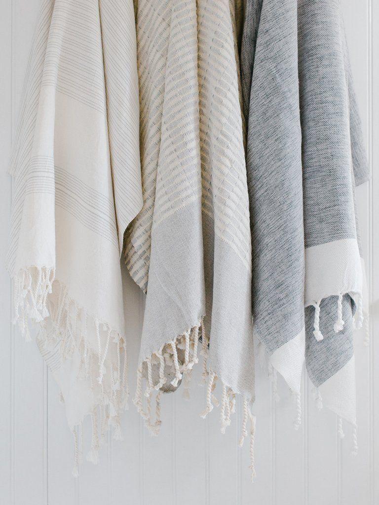 Grey Woven Turkish Towel With Images Turkish Towels Bathroom