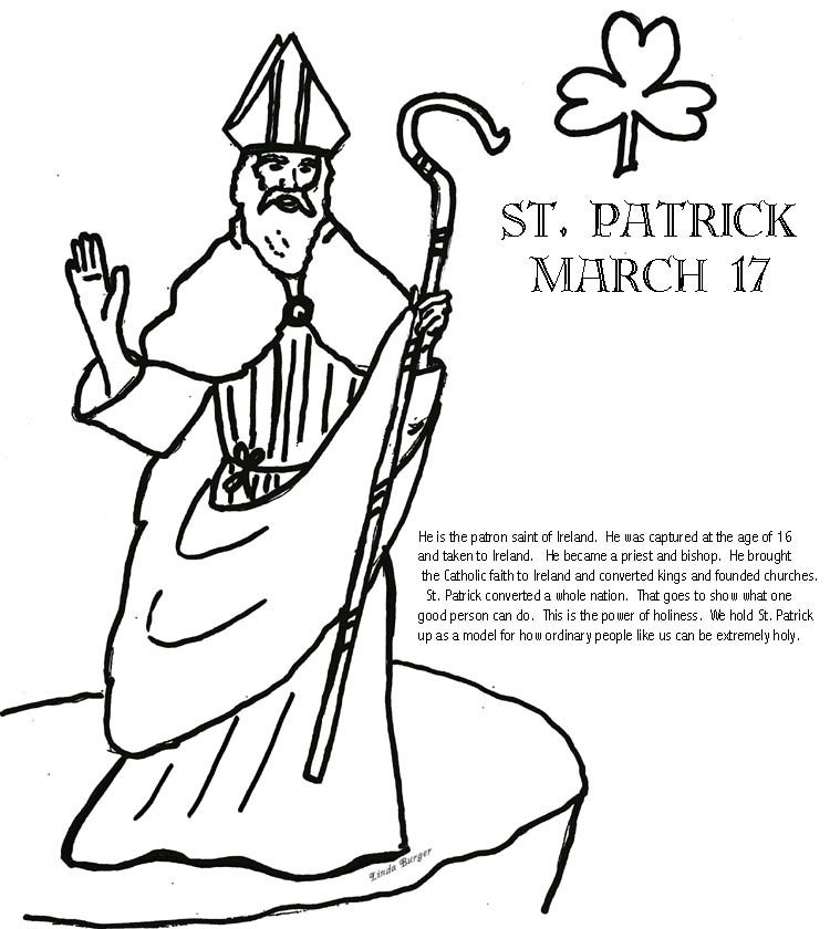 Saint Patricks Coloring Pages St Patrick Coloring Page Church Of