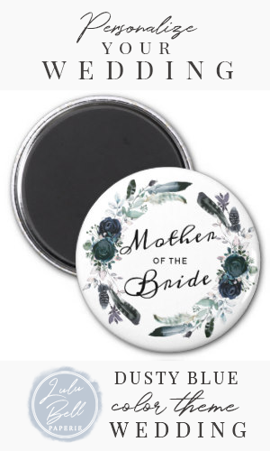 French Twilight Floral Wreath Mother of the Bride Magnet