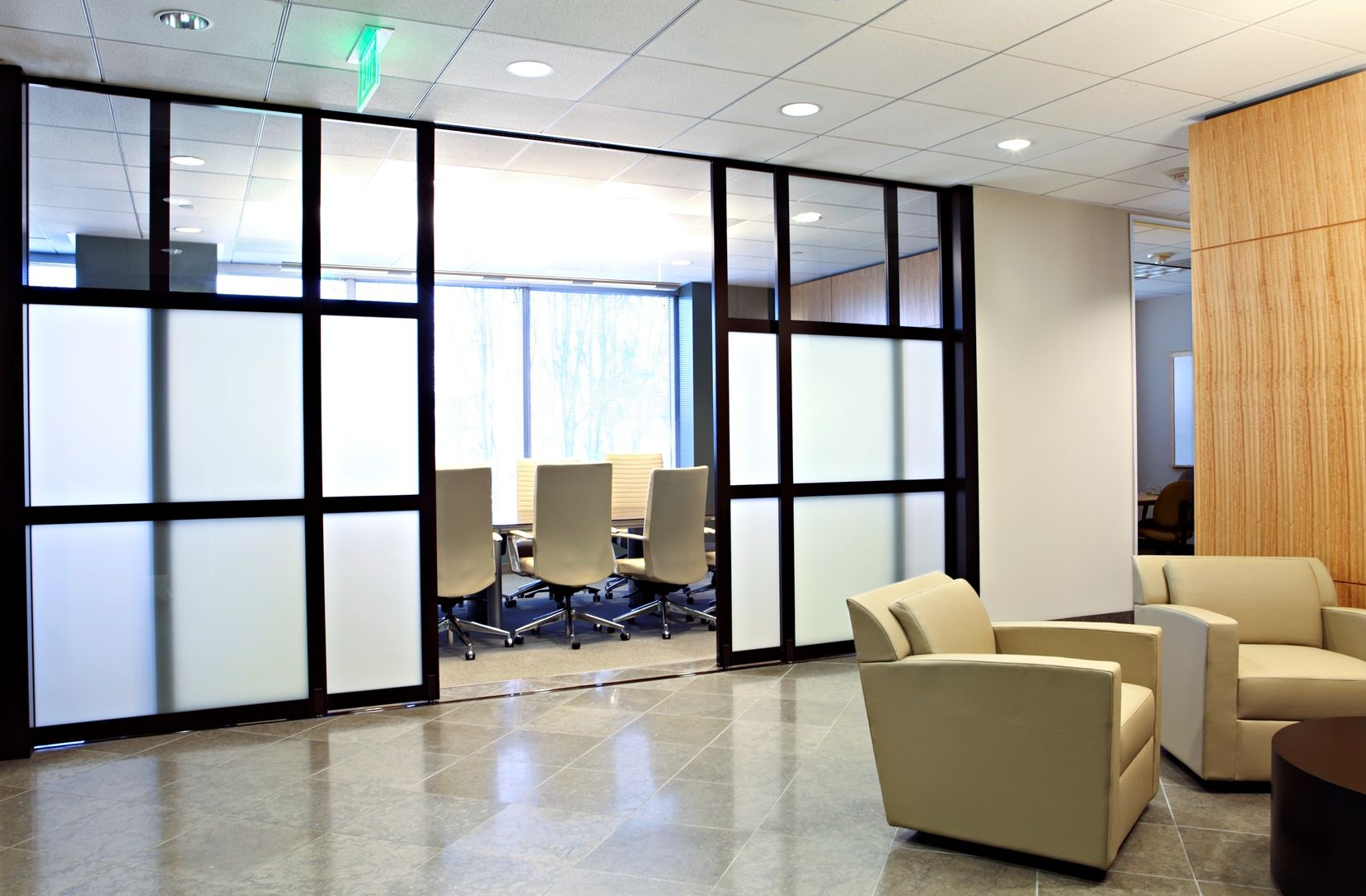 Space Plus A Division Of The Sliding Door Company Office Partition Walls Glass Office Cubicles Enclos Glass Room Divider Room Divider Modern Room Divider