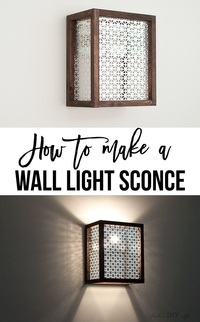 How to make a wall sconce wood working projects pinterest
