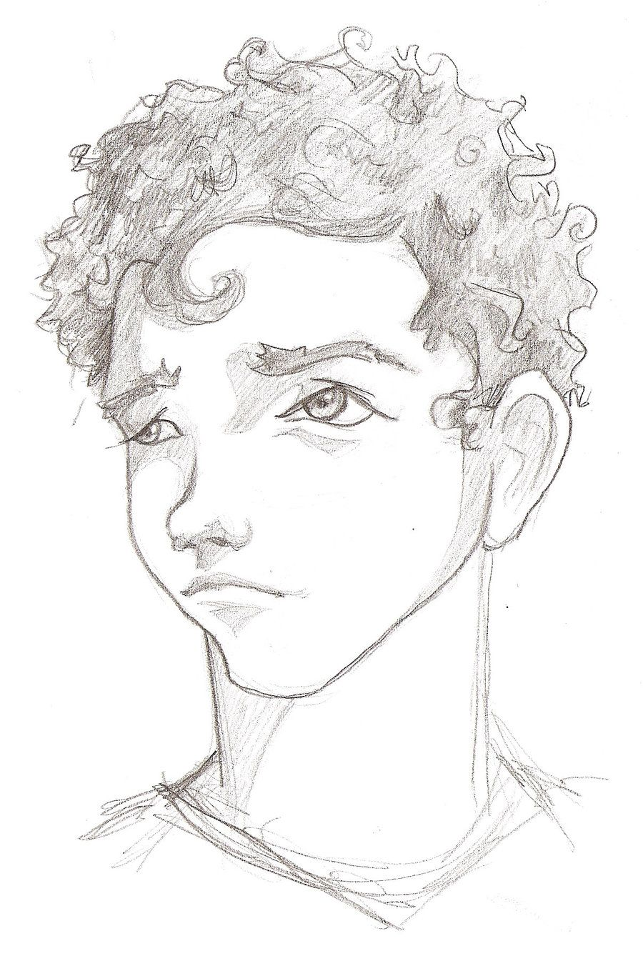 Pin By April Jane On Create Boy Hair Drawing Curly Hair Drawing Anime Curly Hair