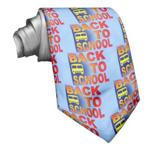 back to school neck ties