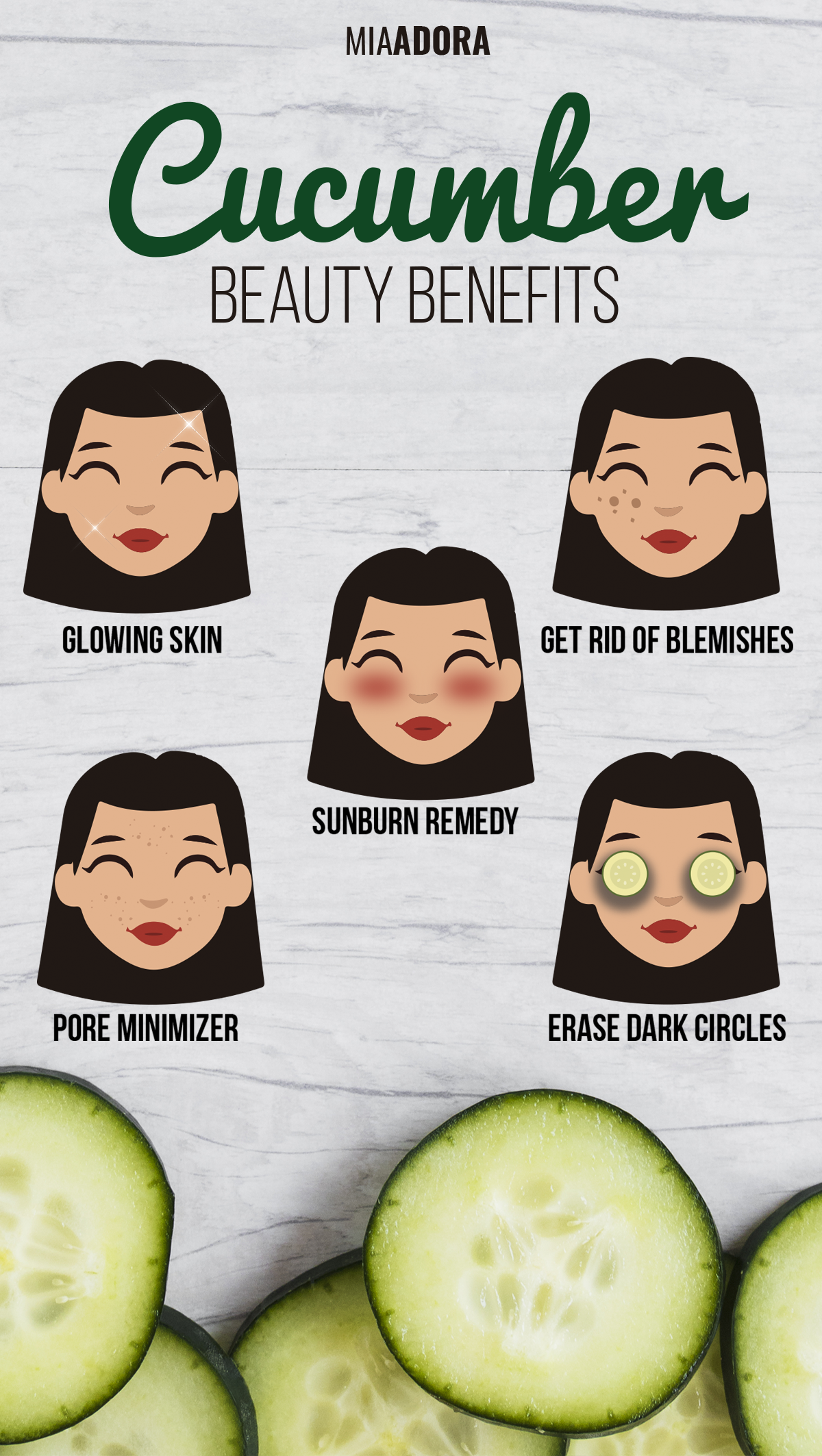 12 Simple Cucumber Beauty Skin Care Tips  Natural beauty care