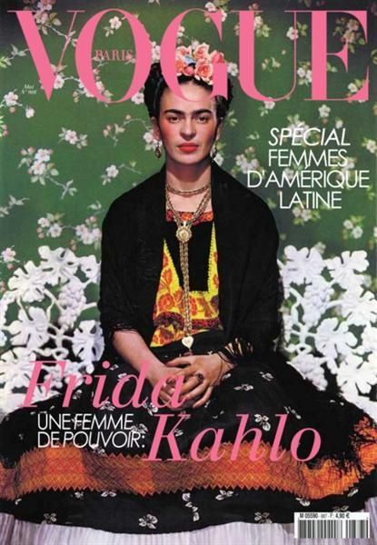 Frida Kahlo on the cover of Vouge. 1937.
