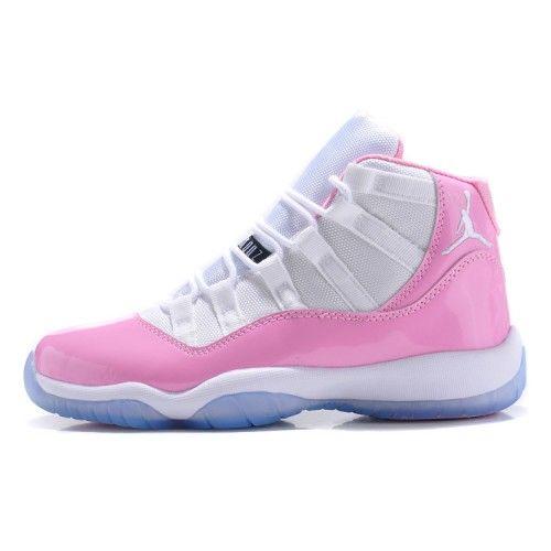 Womens Jordan 11 GS White Pink Buy Authentic