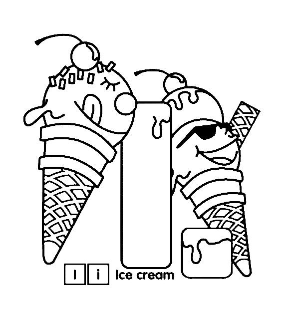 I For Ice Cream Coloring Pages Checkkkiitttout Pinterest