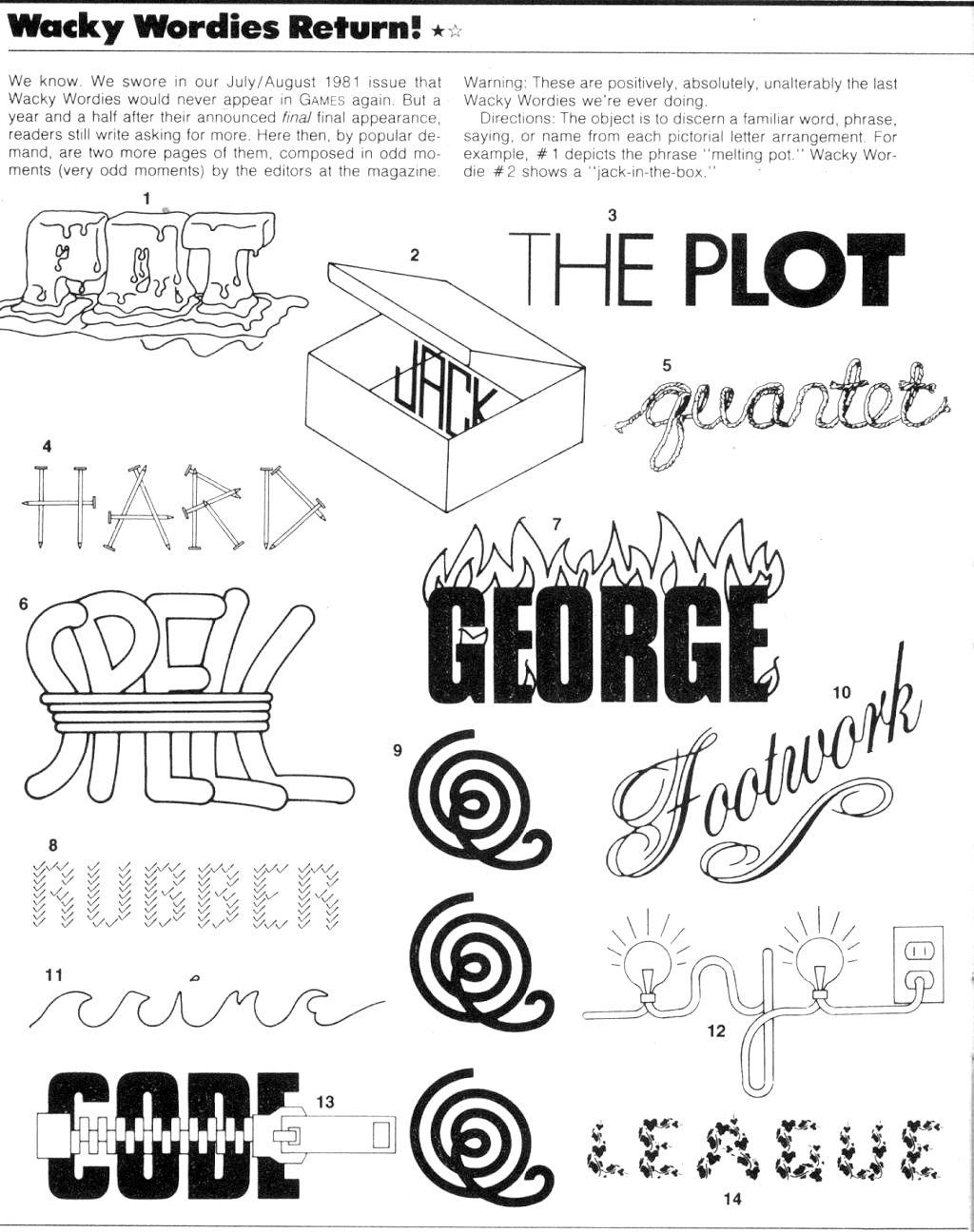 Workbooks wacky wordies worksheets : Wackie Wordies #62 | FYI | Pinterest | Word games