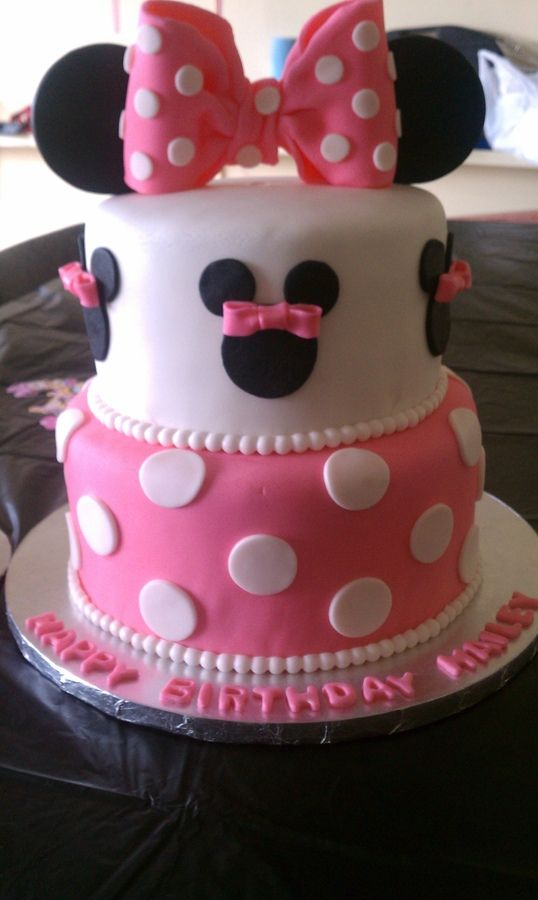 Pin On Minnie Mouse Cakes