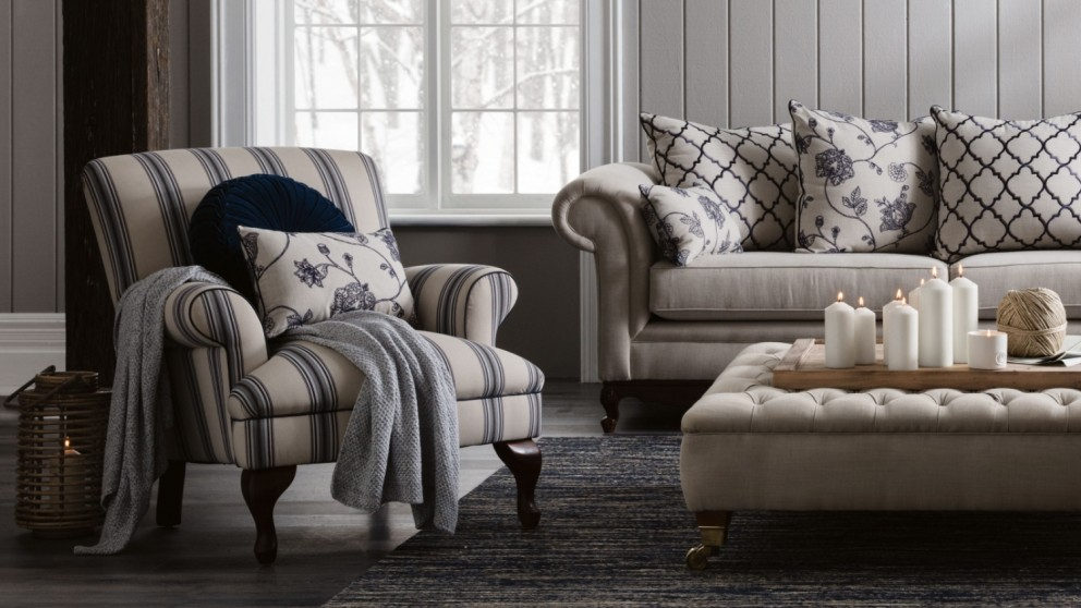Buy Provence Fabric Occasional Chair Domayne Au Furniture