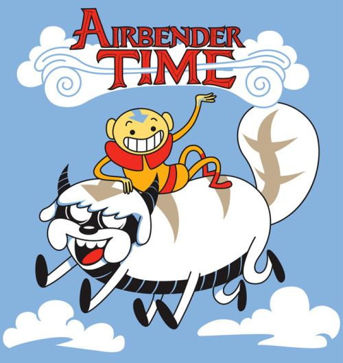 Aang and Appa take on the roles of Jake and Finn in this