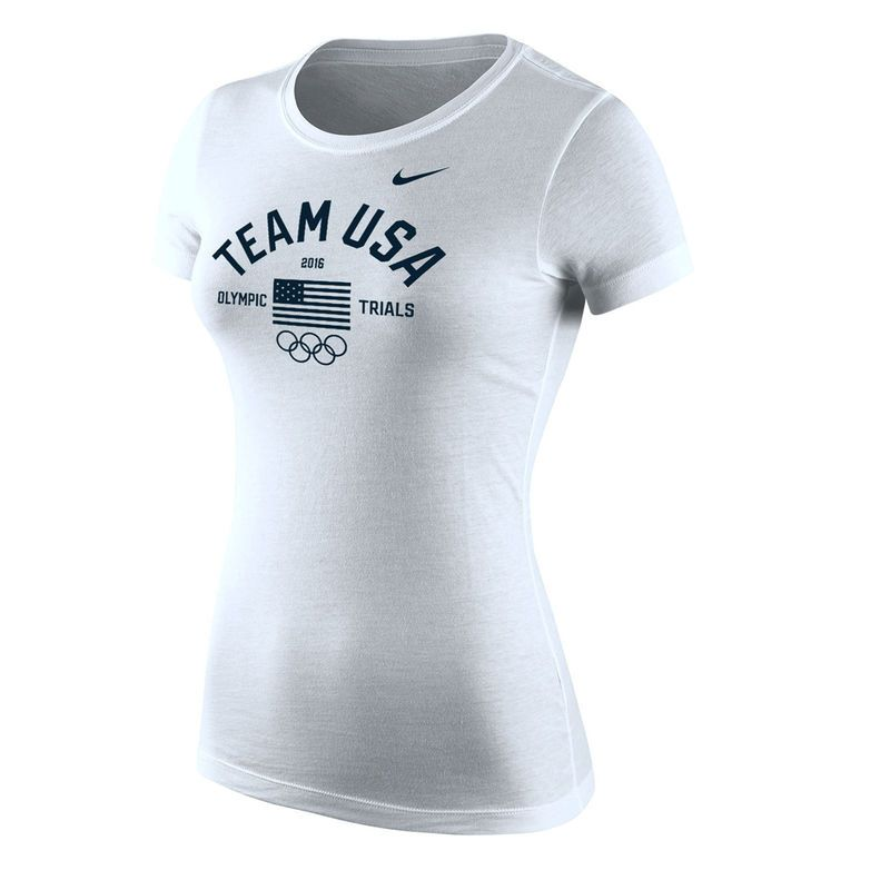 Team USA Nike Womenu0027s 2016 Olympic Trials T-Shirt - White 2016 - t ren f r k chenschr nke