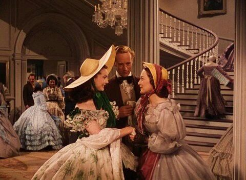 """Olivia de Havilland, Vivien Leigh and Leslie Howard in a scene from """"Gone With the Wind"""""""