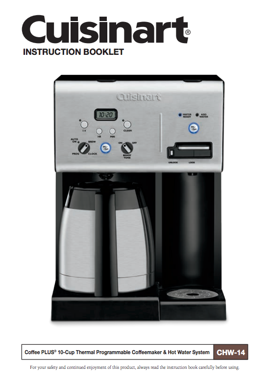 Coffee Plus 10 Cup Thermal Programmable Coffeemaker With Hot Water System Chw 14 Product Thermal Coffee Maker Stainless Steel Coffee Maker Hot Water System