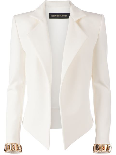 2a57e91a3eee Shop Alexandre Vauthier embellished cuff blazer in L Eclaireur from the  world s best independent boutiques at farfetch.com. Over 1000 designers  from 60 ...