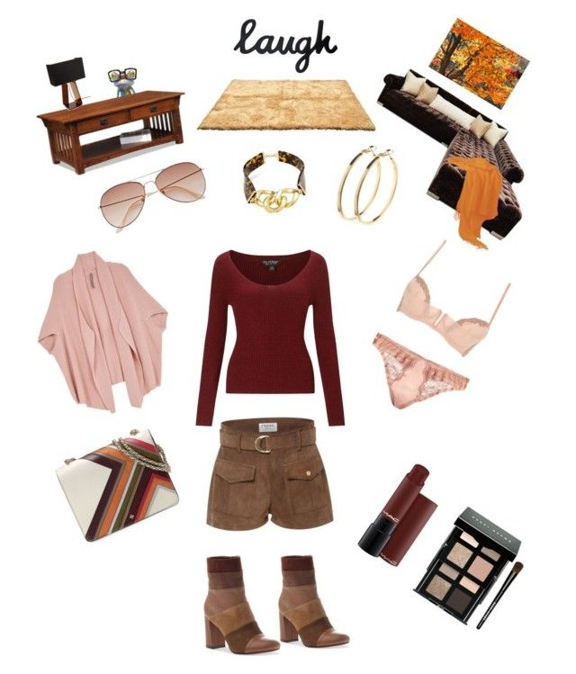 """""""On trend neutrals"""" by g-o-graphic ❤ liked on Polyvore featuring Yosemite Home Décor, Frame Denim, Haute House, Pluma, Leick, Pablo, Poetic Licence, Tory Burch, Bobbi Brown Cosmetics and Fleur of England"""