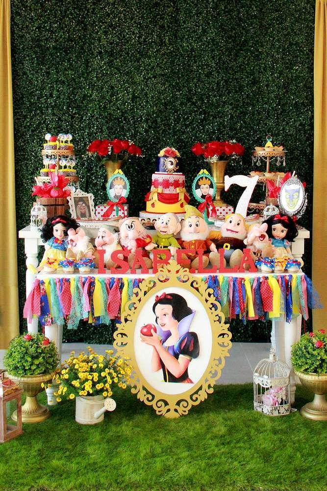 Snow White Birthday Party Ideas Com Imagens Festa Branca De