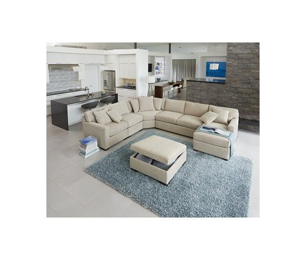 Best Radley 5 Piece Fabric Chaise Sectional Sofa Created For 400 x 300
