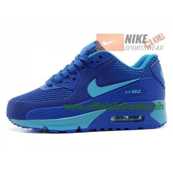online store 1246c 5f68c Nike Air Max 90 Ps Chaussures Nike Pas Cher Pour Enfant Bleu-Boutique de  Chaussure
