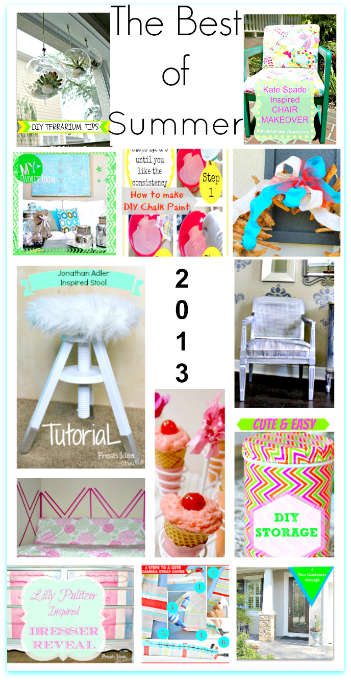 DIY Paint, Decor, Recipes, Storage & More - The Best of Summer 2013 from Fresh Idea Studio  #Bestof #Summer2013 #DIY #Paint #Upcycle #FIS