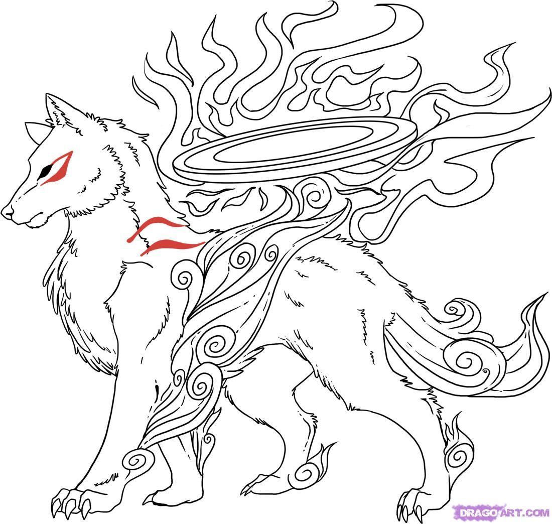How To Draw Okami Amaterasu From Okami by Dawn (With