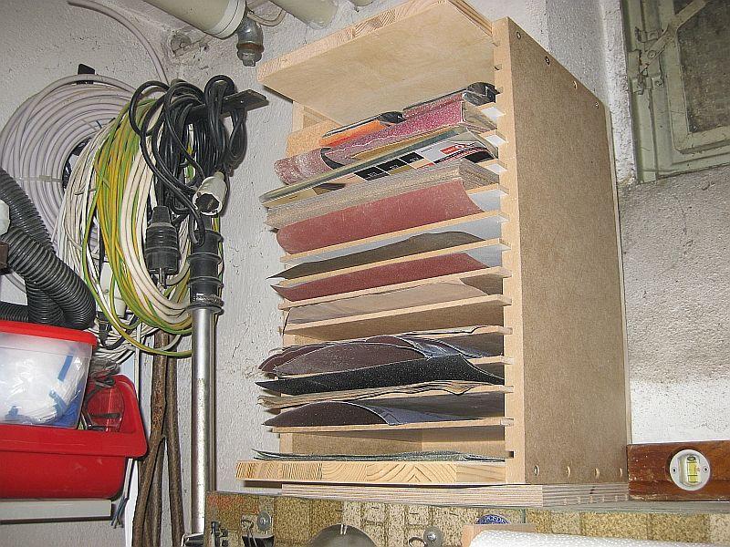 Ablage für Schleifpapier Bauanleitung zum selber bauen