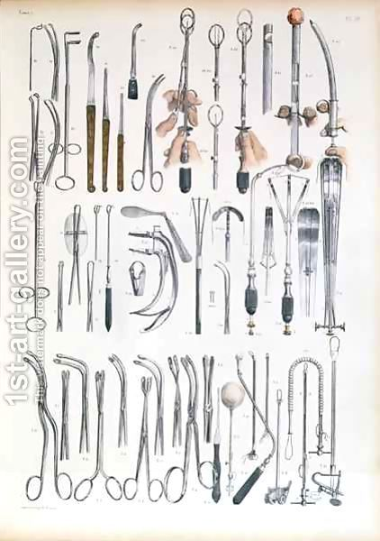 Surgical Instruments For Tonsil Operations Painting By Nicolas Henri Jacob 1st Art Gallery Medical Anatomy Vintage Medical Surgical Tech