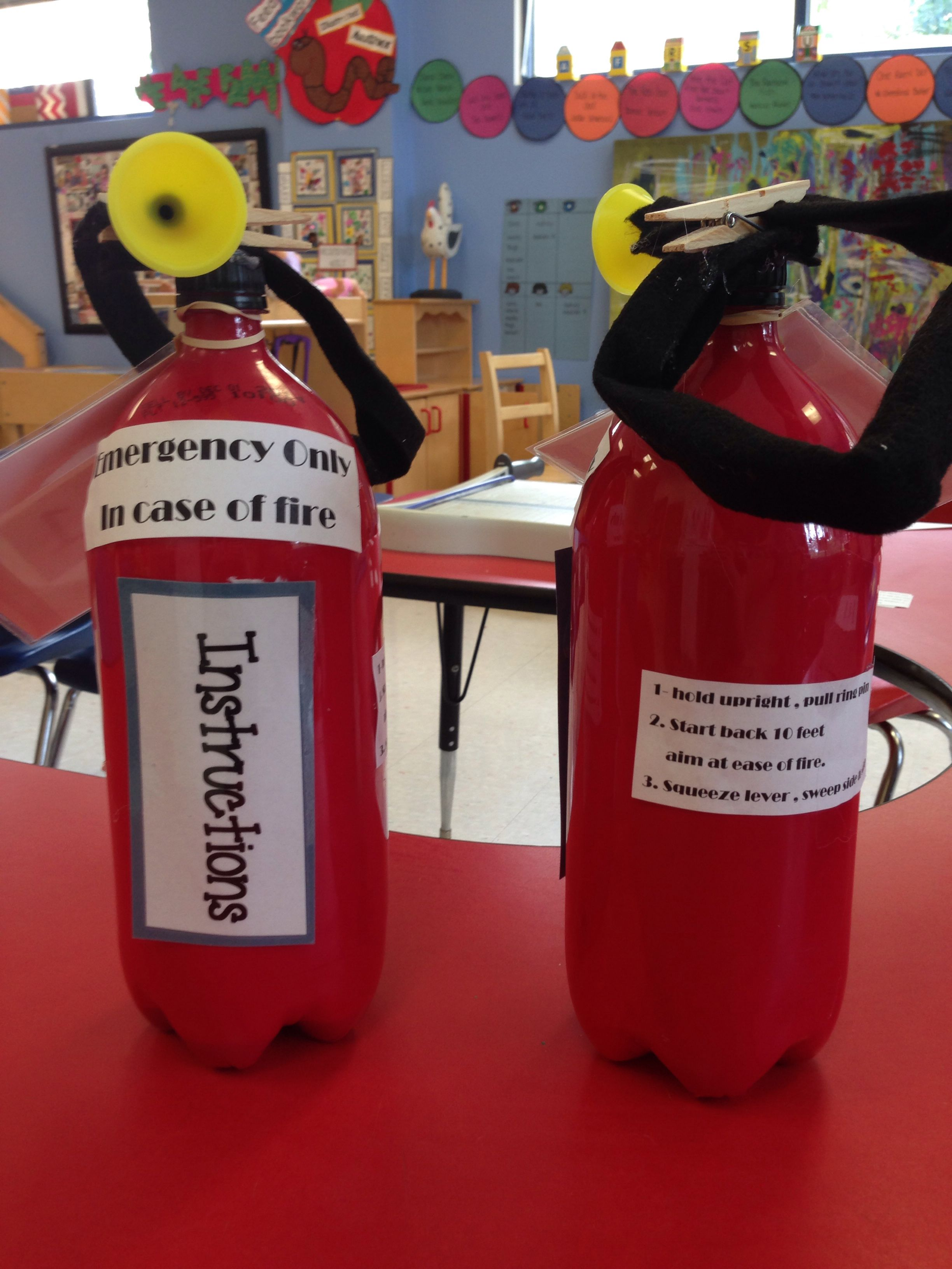 Fire Prevention Week Fire Extinguisher Craft