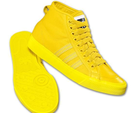 official photos 179b8 523b8 Men s adidas Originals Nizza Hi Shoes - Yellow