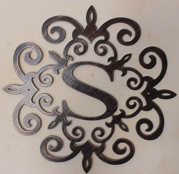 Family Initial Monogram Metal Wall Sign Wall Decor Any