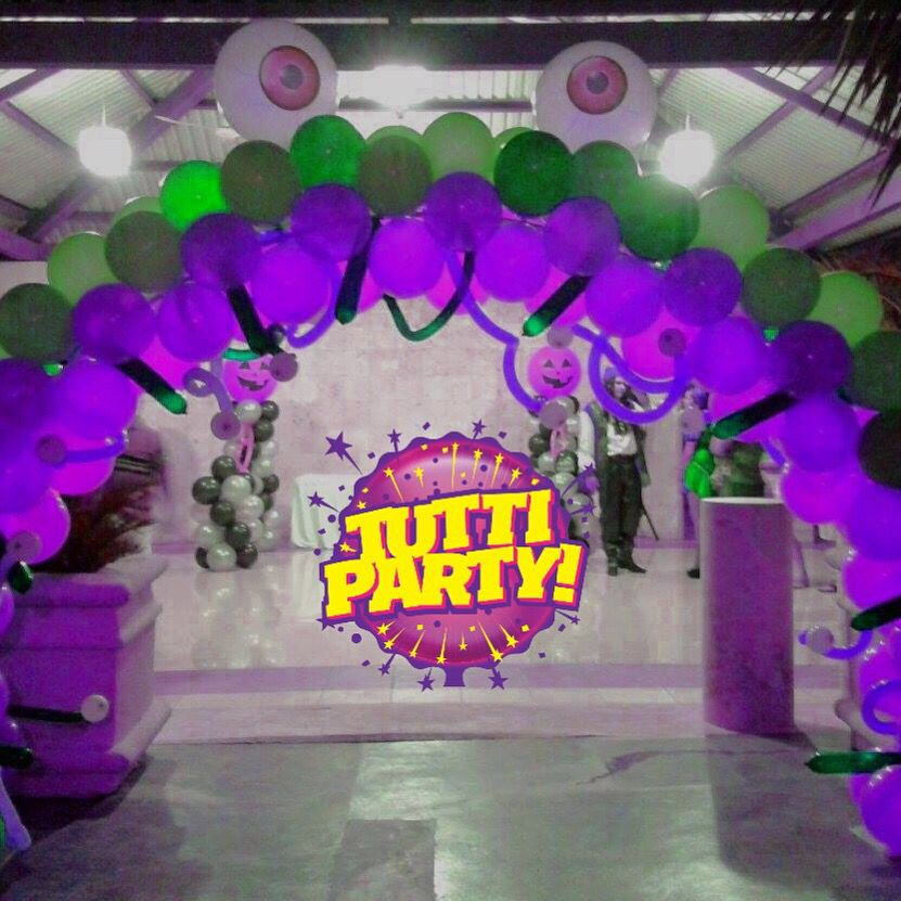 Halloween arch balloons decorations monster balloons decorations decoraci n para fiesta de - Ideas decoracion halloween fiesta ...