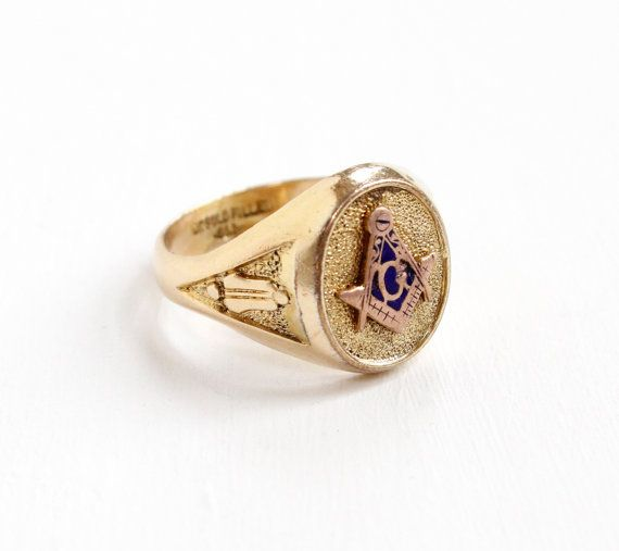 Vintage 10k Yellow Gold Filled Mason Ring Art Deco 1930s Etsy Masonic Jewelry Antique Rings Vintage Masonic Ring
