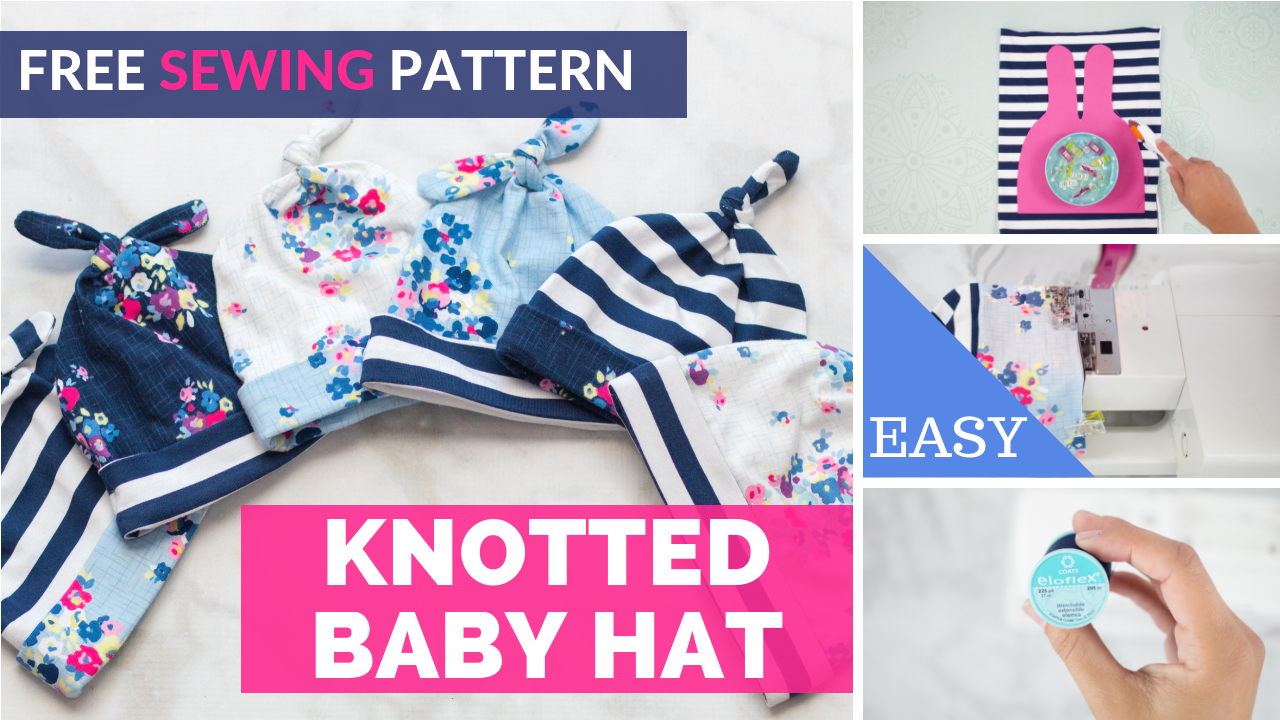 Double Top Knot Baby Hat Free Sewing Pattern #sewingprojects