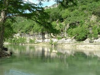 New Braunfels Camping >> Riverfront View On The Guadalupe River Primative Tent