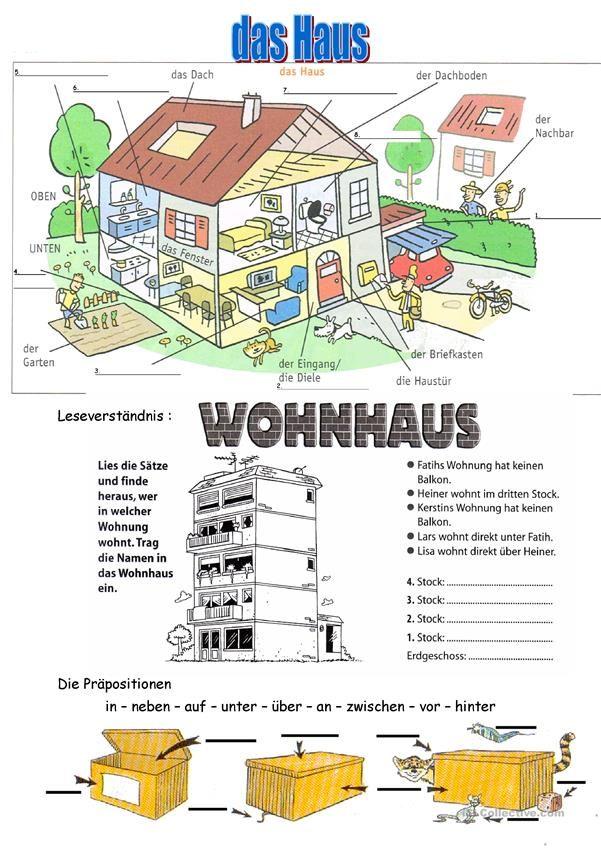 Haus und Stockwerke | Német | Pinterest | Deutsch