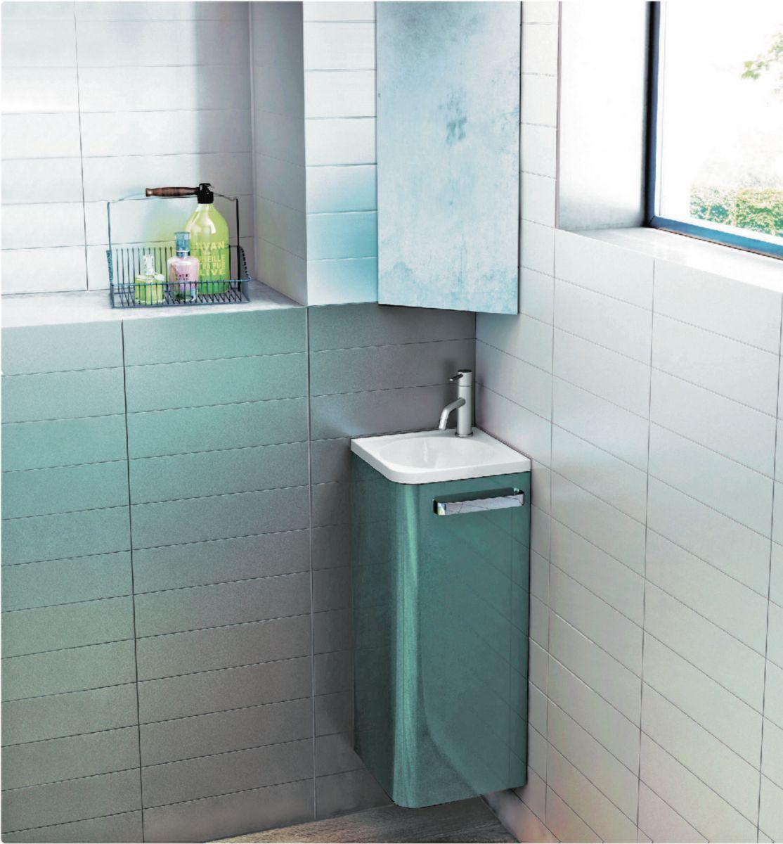 Meuble Lave Mains D Angle Jazz 30 5 X 30 5 X 75 Cm Laque Ref 1812551 Trash Can Tall Trash Can Small Trash Can