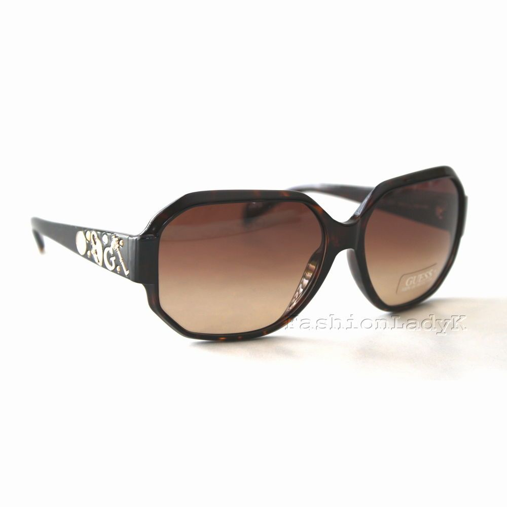 6f3b21b519451 New Authentic GUESS Women s Sunglasses GU7025 Dark Brown Tortoise Square  Octagon  GUESS  Square
