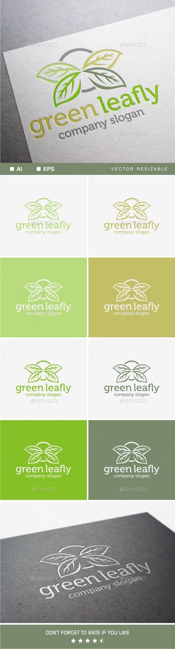 Green Leafly Green logo design, Flower logo design