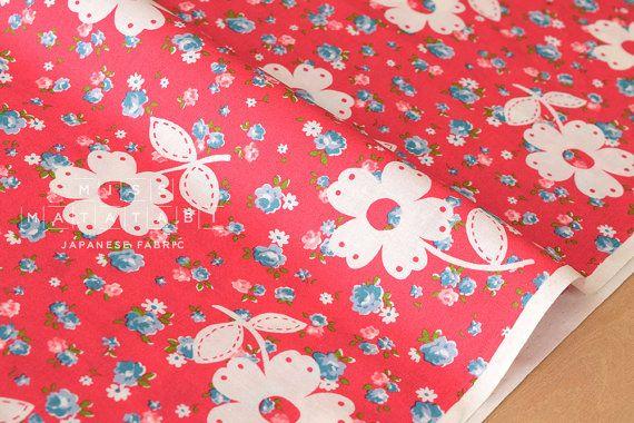 Japanese Fabric Atsuko Matsuyama lace flower  D  by MissMatatabi