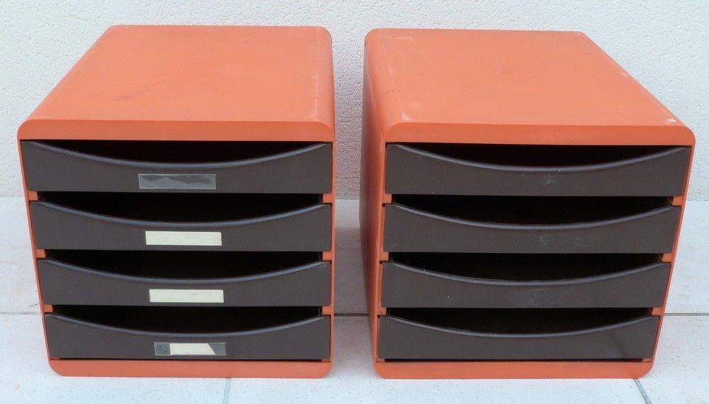 Casier Classeur Bureau Rangement Plastique Orange Marron Vintage Eur 65 00 2 Classeurs De Bureau En Plastique M Classeur Rangement Plastique Classeur Bureau