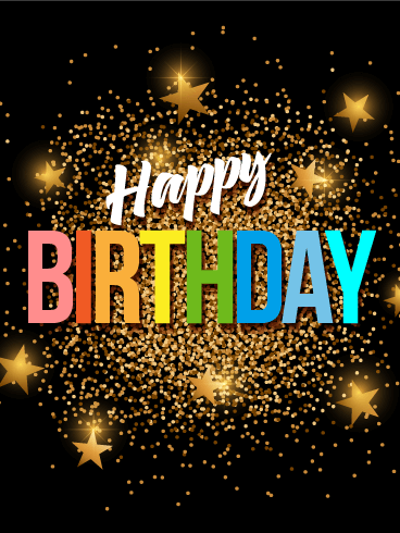 Gold Glitter Happy Birthday Card: Wish them an 'out of ...