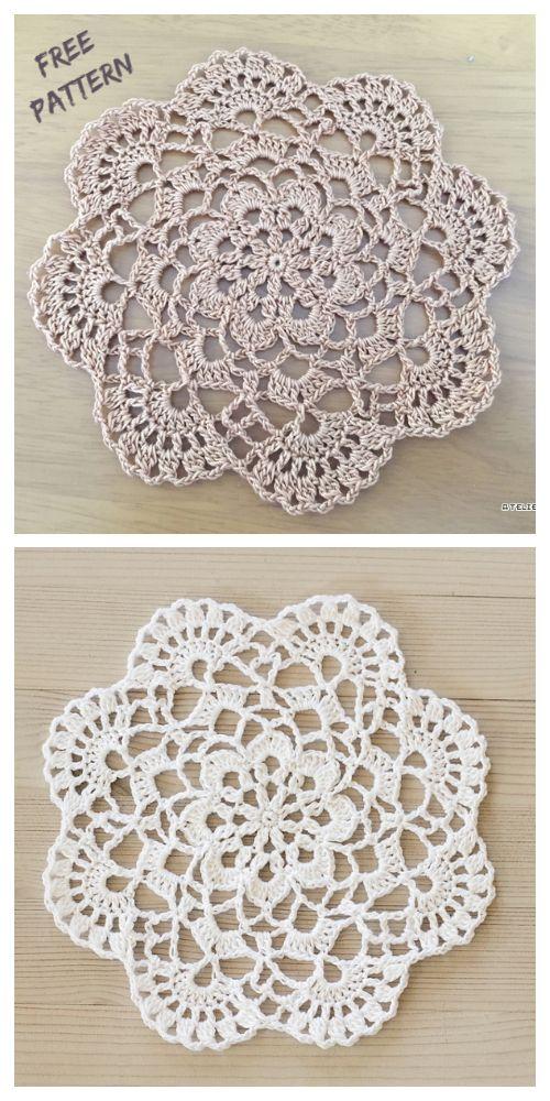 Easy Lace Doily Free Crochet Pattern
