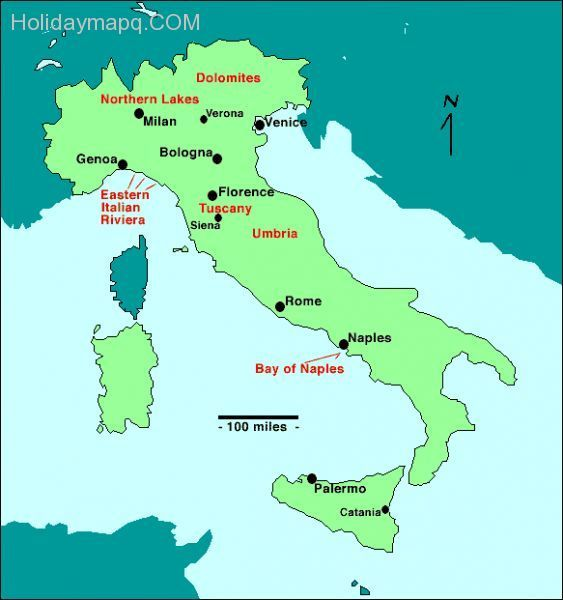 cool Map of italy showing pompeii Holidaymapq