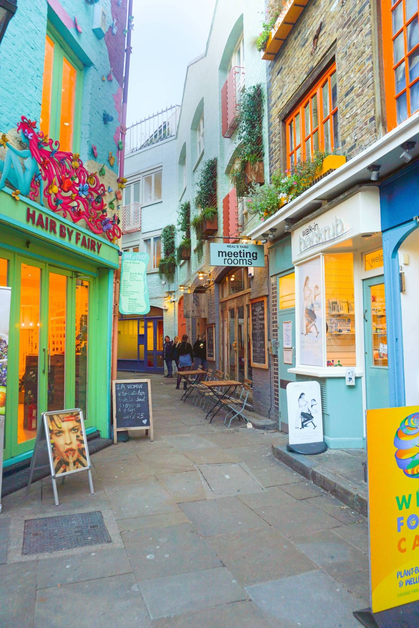 Neal's Yard in Covent Garden is the most unique London street