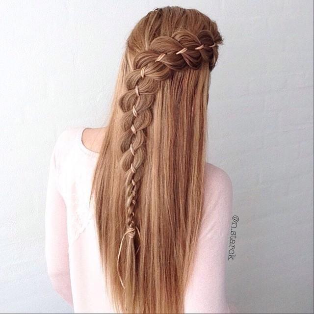 Half Up 4 Strand Ribbon Braid Every Day Hair Style Hair Styles