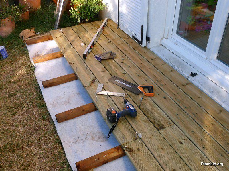 Poser une terrasse en bois Bricolage et embellissement Pinterest