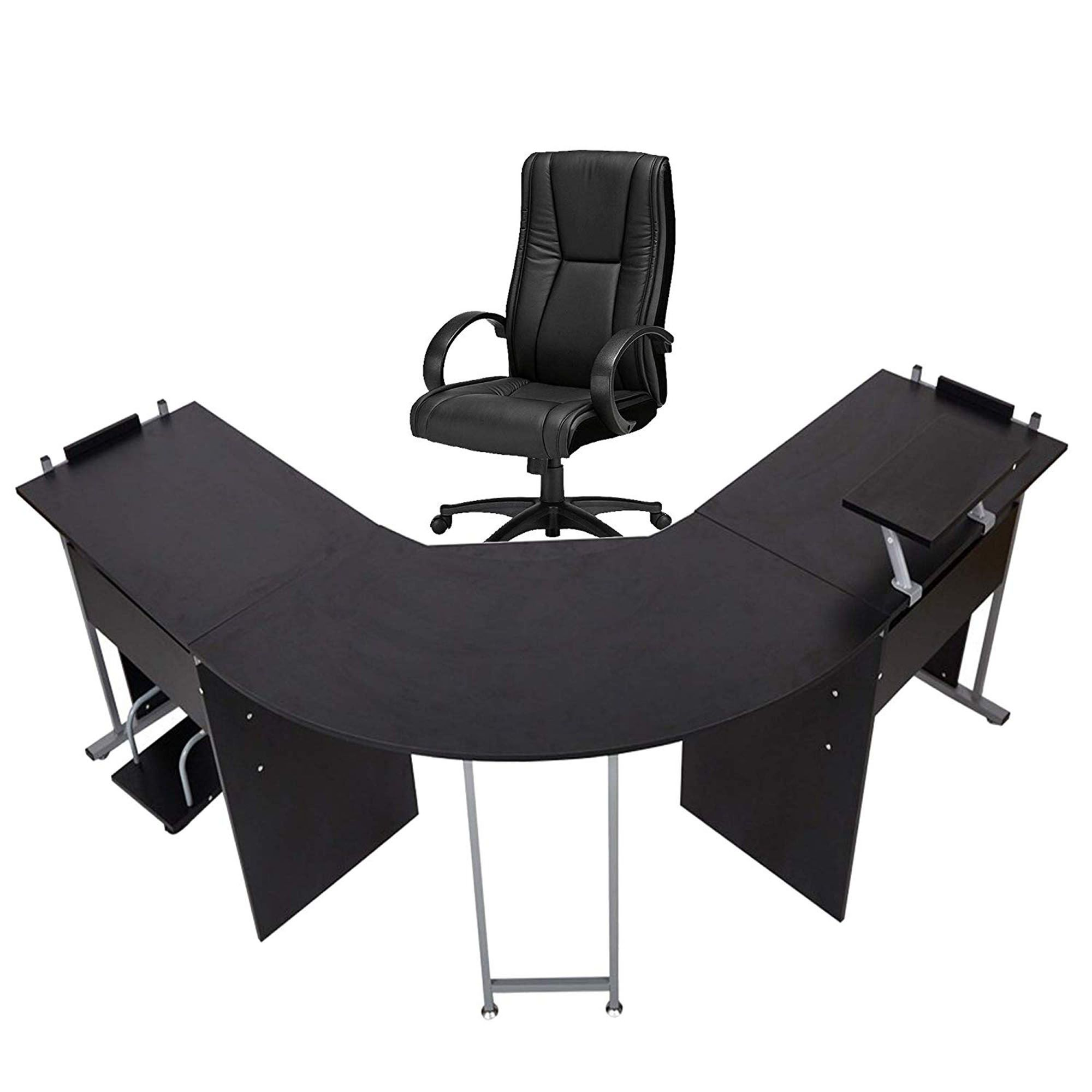 L Shaped Desk Corner Computer Desk Pc Laptop Gaming Table