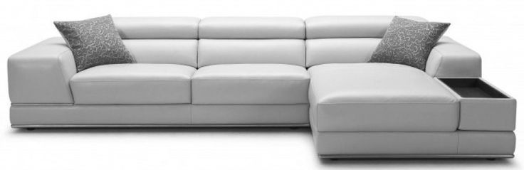 Phenomenal Bergamo Grey Sectional Leather Sofa Modani Com Evergreenethics Interior Chair Design Evergreenethicsorg