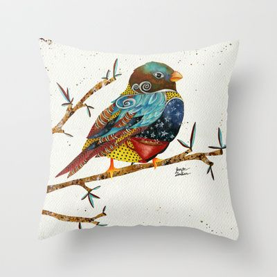 Twilight Bird 2 Throw Pillow